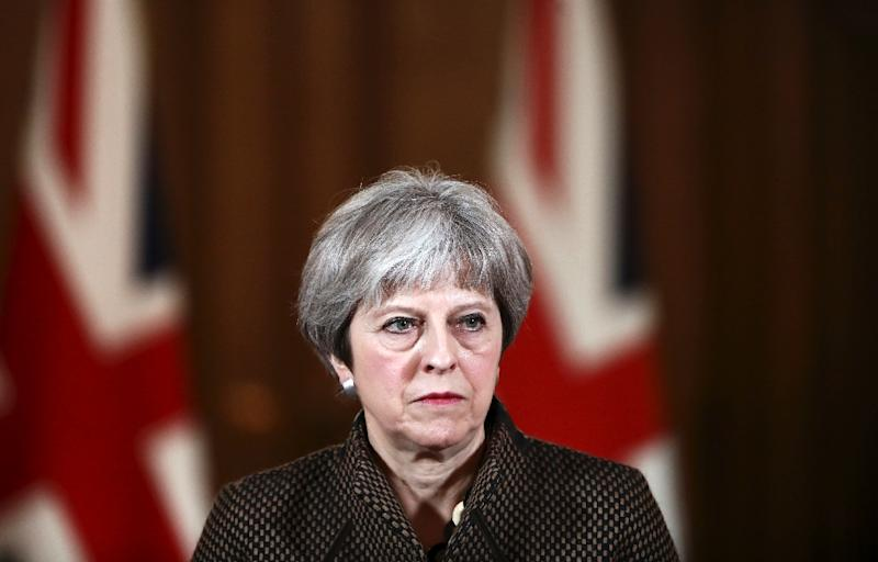 Prime Minister Theresa May's government says the strikes were legal and aimed at alleviating the suffering of the Syrian people (AFP Photo/SIMON DAWSON)