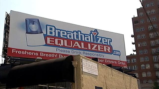 Billboard Promotes Breathalyzer Beater