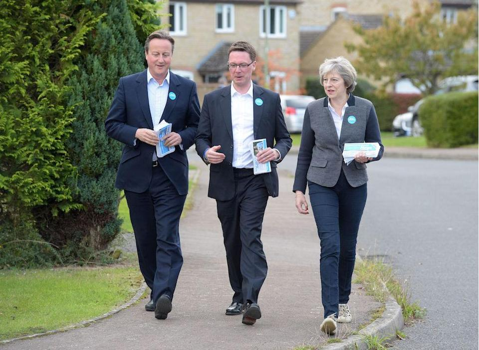 David Cameron helping prime minister Theresa May with campaigning for an October 2016 by-election (Picture: PA)