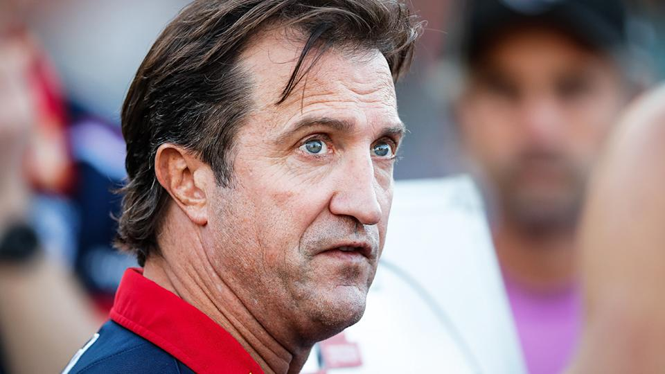 Western Bulldogs coach Luke Beveridge was one of two AFL coaches absent from a vote on the new medical substitute rule. (Photo by Matt Turner/AFL Photos via Getty Images)
