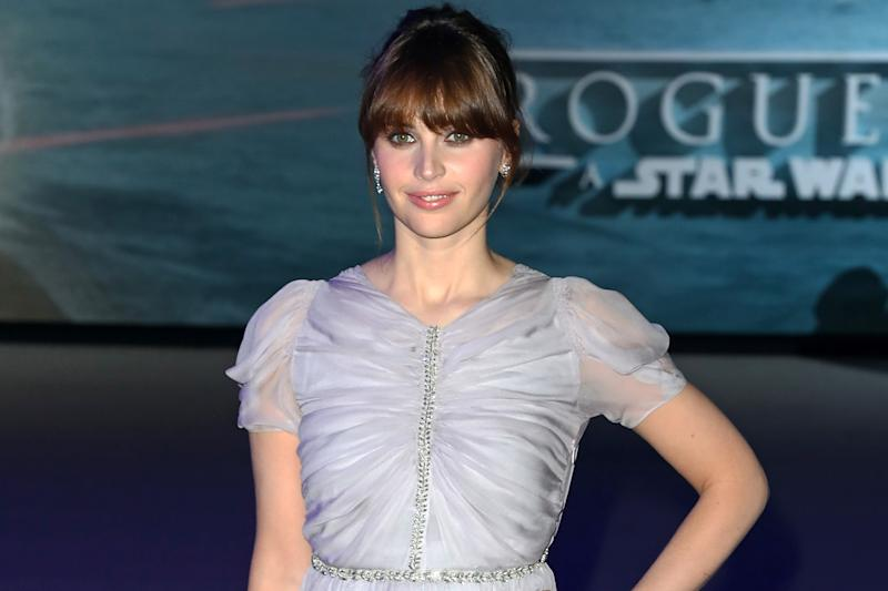 Leading lady: Rogue One's Felicity Jones is also up for an award: Dave Benett