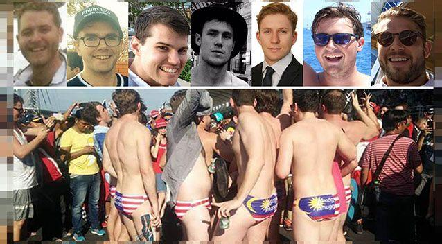 The men were seen enjoying their time at the Malaysia Grand Prix. Source: 7News