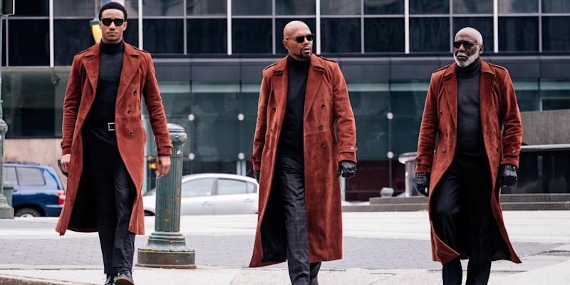 Samuel L. Jackson, Jessie Usher, and Richard Roundtree (credit: Warner Brothers)