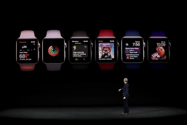 <p>Apple also debuted the Apple Watch Series 3. (Photo by Justin Sullivan/Getty Images) </p>
