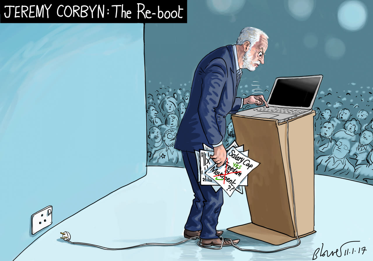 JAN 11 2017: CORBYN'S REBOOT DOESN'T GO TO PLAN