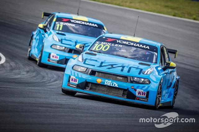 """Yvan Muller, Cyan Racing Lynk & Co 03 TCR, Thed Björk, Cyan Racing Lynk & Co 03 TCR <span class=""""copyright"""">WTCR </span>"""