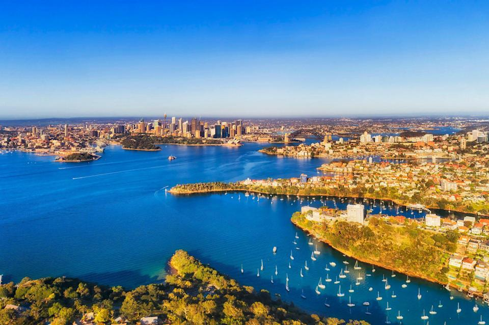 The view of Sydney's CBD from Mosman and Cremorne to Kirribilli. (Photo: Getty)