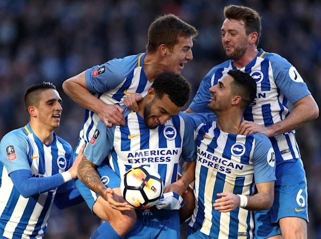 Jurgen Locadia scores on his debut as Brighton beat Coventry to reach the FA Cup quarter-finals