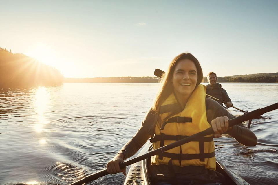 <p>Soak up those final sun-filled days—with an adventurous kayak ride. Rent one (if you really trust each other) or two (if you're really competitive) and spend the day exploring a local river or lake. Oh, and of course, make sure to pack a picnic lunch, so you can stop and refuel along the way.</p>