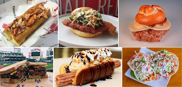 Some of the more than 30 items from around MLB ballparks that fans can sample at MLB Foodfest. (MLB)