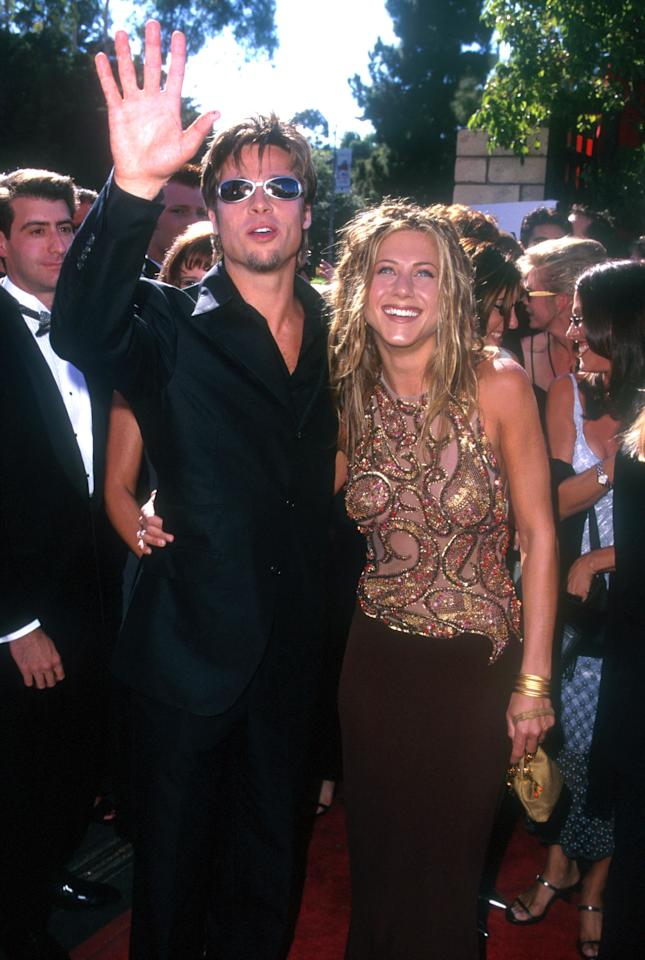 Brad Pitt & Jennifer Aniston (Photo by Steve Granitz/WireImage)