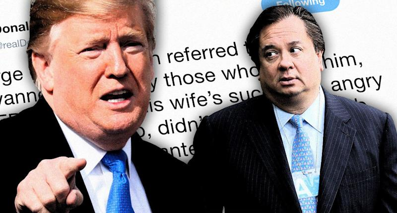 Donald Trump and George Conway (Photo illustration: Yahoo News; photos: AP, Chip Somodevilla/Getty Images)