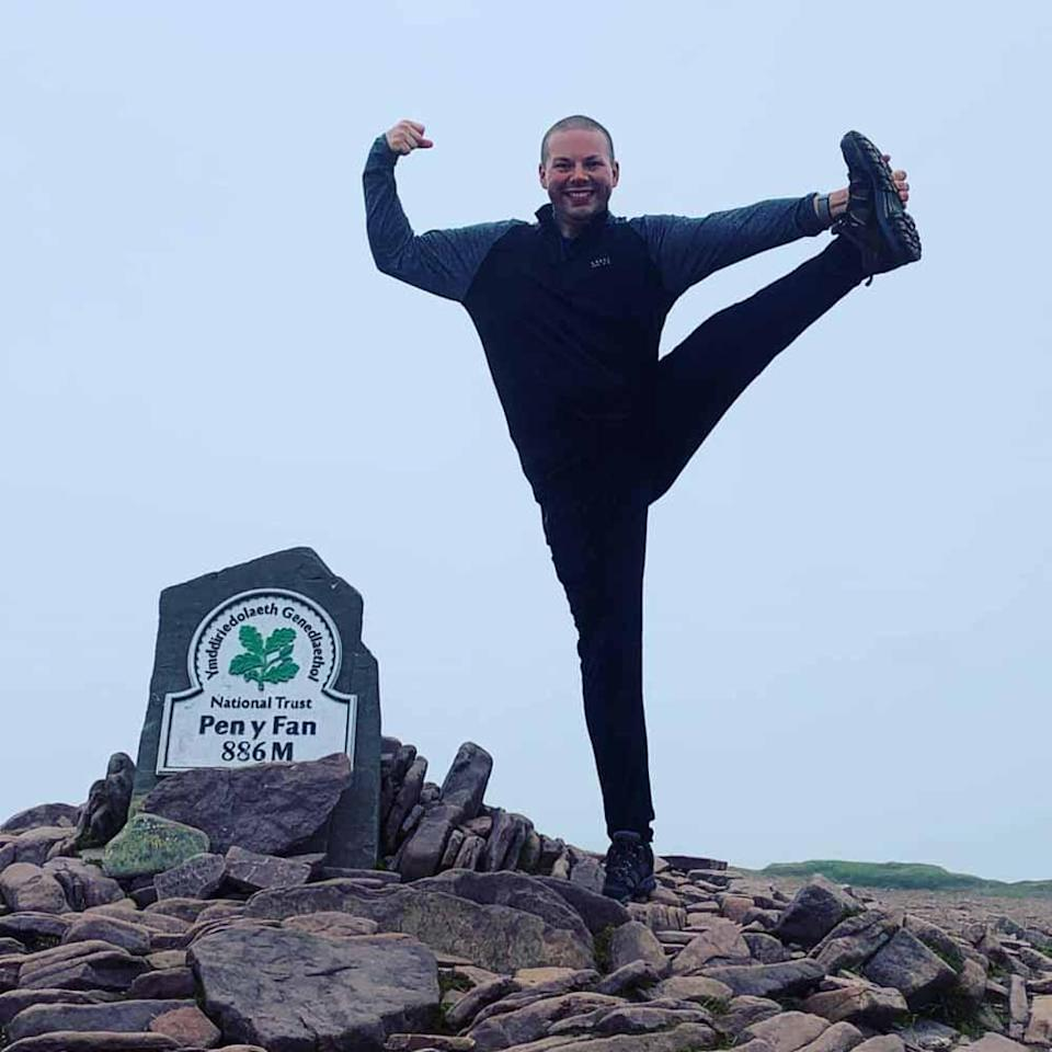 At the top of Pen Y Fan, in South Wales. PA REAL LIFE