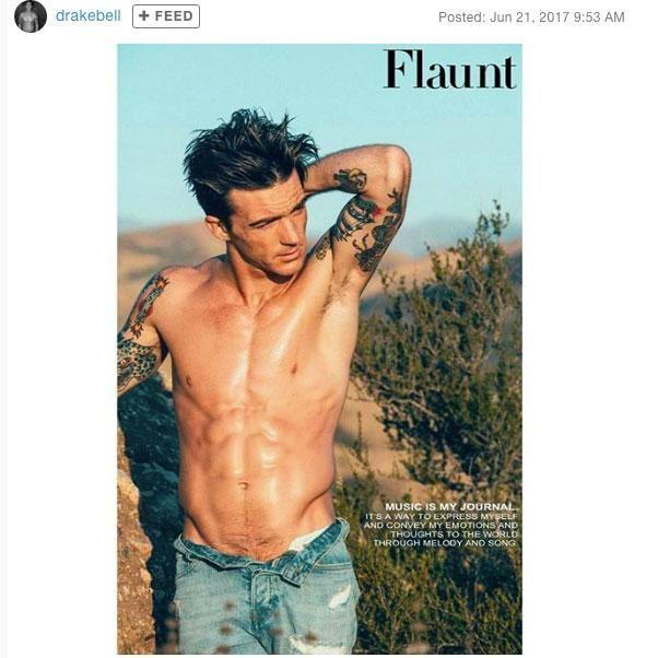 Former Nickelodeon star Drake Bell poses shirtless for Flaunt magazine. Source: Stephen Busken/Flaunt