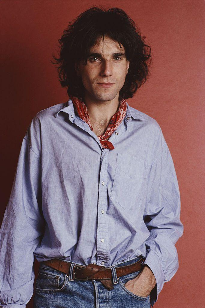 <p>Daniel Day-Lewis is a notorious fan of the open collar and chest hair look—even back in 1989. The bandana neck tie is a nice touch.</p>