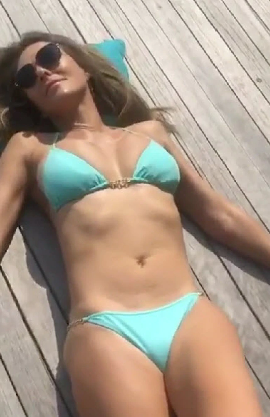 Liz Hurley has been sharing a bunch of bikini-clad videos online that her fans are lapping up. Source: Instagram/ElizabethHurley