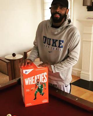 f709dc94a3d3f2 Kyrie Irving Unveils Nike Kyrie 4  Wheaties  With Incredible Packaging