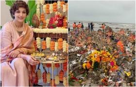 Sonali Bendre concerned about pollution caused by Ganesh Visarjan