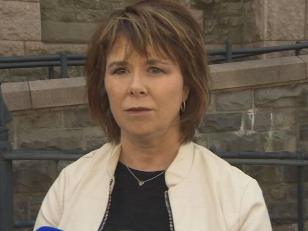 Sheila Fitzgerald is representing herself in a Supreme Court election challenge, citing the high cost of lawyers. She's turned to a new way of making money after she lost a civil service job for sharing a racist Facebook post earlier this year. (CBC - image credit)