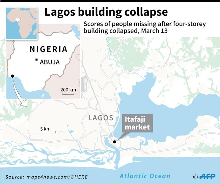 Building collapse in Lagos (AFP Photo/Sophie RAMIS)