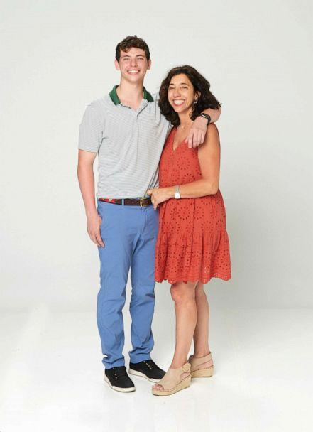 PHOTO: Connor Gavagan pictured with his mother Jacqueline Gavagan in 2021. (ABC)