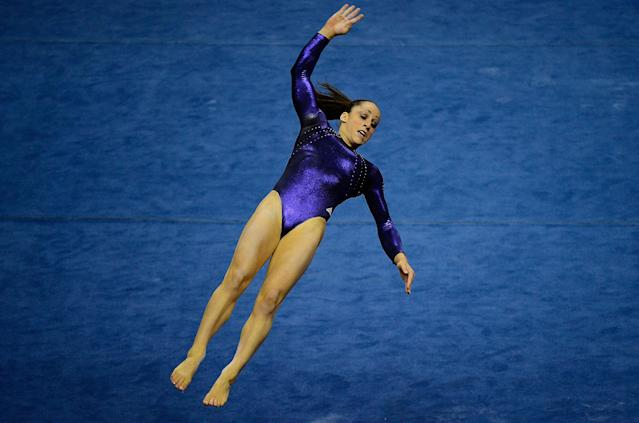 SAN JOSE, CA - JULY 01: Jordyn Wieber competes on the floor exercise during day 4 of the 2012 U.S. Olympic Gymnastics Team Trials at HP Pavilion on July 1, 2012 in San Jose, California. (Photo by Ronald Martinez/Getty Images)