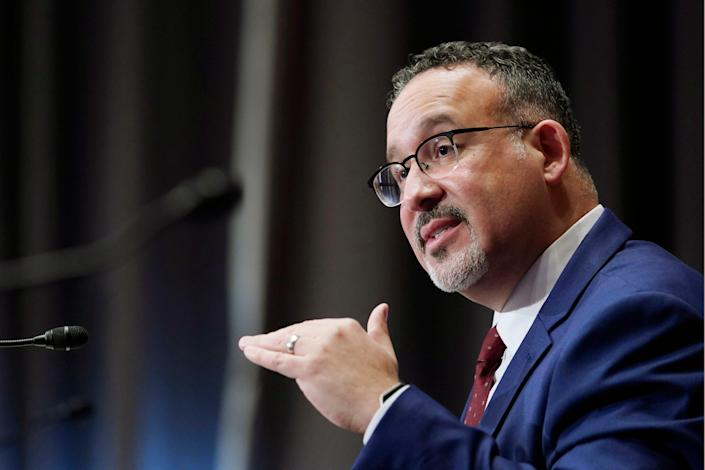 """""""There is no substitute for a classroom experience for our students,"""" education nominee Miguel Cardona says during a hearing Feb. 3 before the Senate Health, Education, Labor and Pensions Committee."""