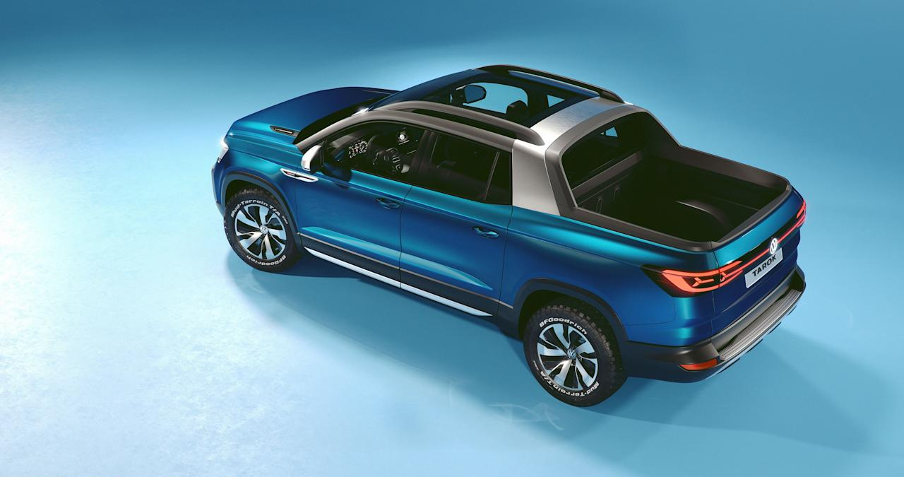 """<p>Volkswagen, it seems, is quite interested in entering the lucrative pickup-truck market here in the U.S., and considering sales numbers for trucks, who can blame VW? The company is proceeding deliberately, showing the Tarok compact pickup concept at this year's New York auto show to """"gauge market reaction"""" after having done the same with <a rel=""""nofollow"""" href=""""https://www.caranddriver.com/news/a19619312/photos-and-info-volkswagen-tanoak-pickup-concept-news/"""">the larger Atlas Tanoak concept</a> at last year's show. Volkswagen has confirmed that the Tarok is destined for dealer showrooms-but those showrooms will be located in South America.</p>"""