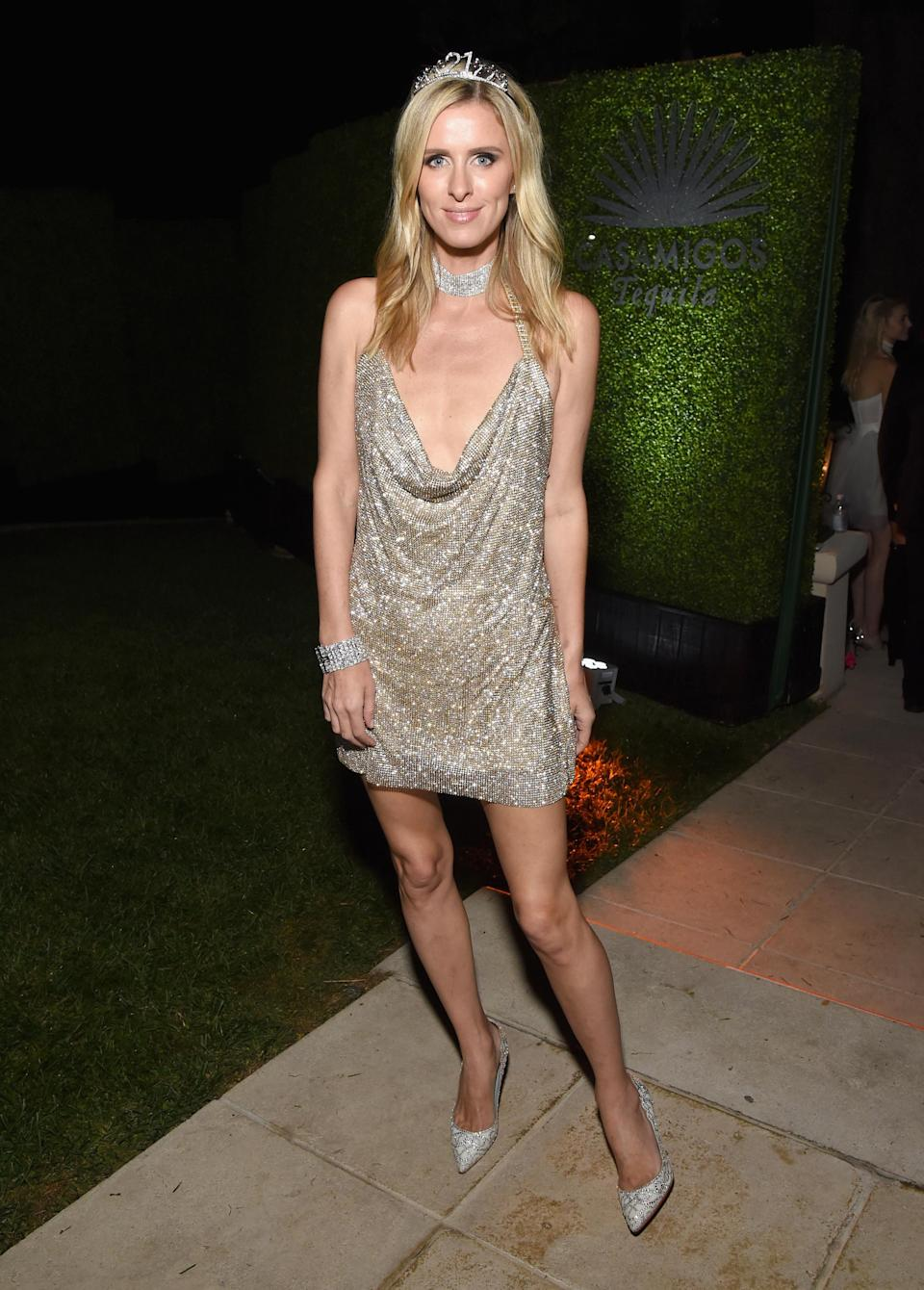 <p>Nicky Hilton dressed as her sister circa 2002 for the Casamigos Halloween party courtesy of a slinky dress reminiscent of the one Paris wore for her 21st birthday party. <em>[Photo: Getty]</em> </p>