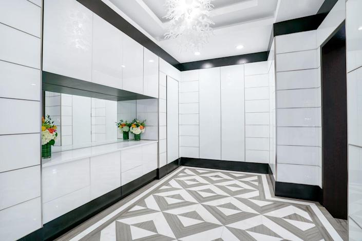 One of several walk-in closets to house your vast collection of clothing and accessories.