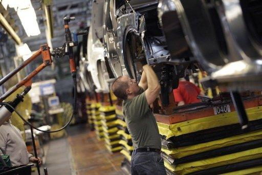 File picture shows an assembly line in Ohio. The United States added a scant 69,000 jobs in May and the unemployment rate rose for the first time in almost a year, the government said Friday in a report spelling more trouble for President Barack Obama's reelection