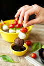 """<p>These bites are perfect if you're living that low-carb life.</p><p><em><a href=""""http://fitfoodiefinds.com/2015/12/caprese-meatball-skewers/"""" rel=""""nofollow noopener"""" target=""""_blank"""" data-ylk=""""slk:Get the recipe from Fit Foodie Finds »"""" class=""""link rapid-noclick-resp""""><span class=""""redactor-invisible-space"""">Get the recipe from Fit Foodie Finds »</span> </a></em><br></p>"""