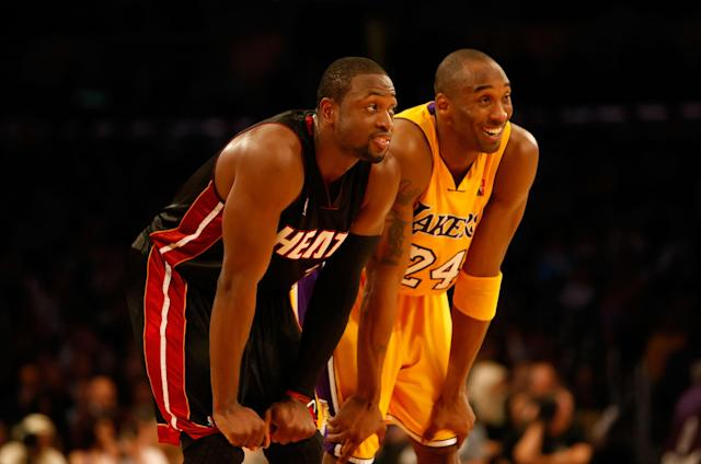 Kobe Bryant and Dwyane Wade were adversaries bonded by mutual respect. (Jeff Gross/Getty Images)