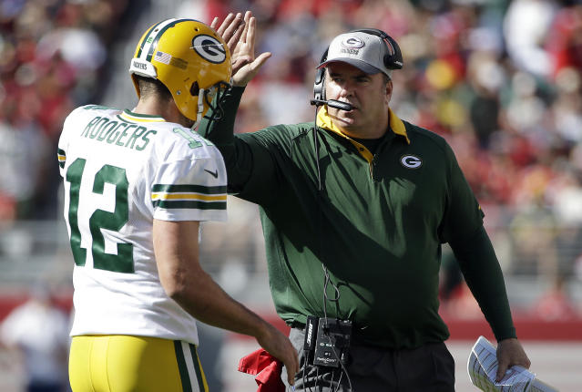 Former Packers head coach Mike McCarthy thanked the players, coaches and fans for his time in Green Bay. (AP)