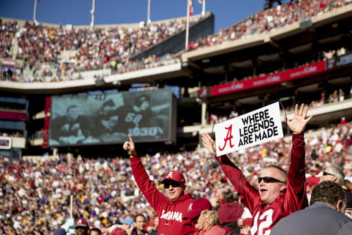 The Latest: Texas A&M to have reduced capacity for football