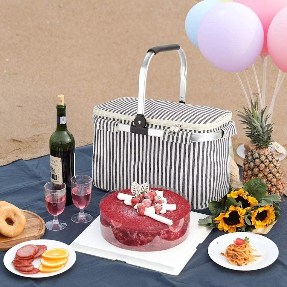 <p>This <span>Happy Picnic Cooler Tote Bag</span> ($42) will be the life of the party.</p>
