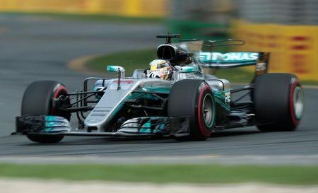 Formula One - F1 - Australian Grand Prix - Melbourne, Australia - 25/03/2017 Mercedes driver Lewis Hamilton of Britain during the third practice session.  REUTERS/Jason Reed