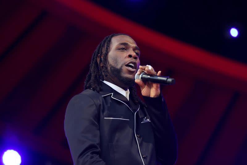 FILE PHOTO: Burna Boy performs at the 2021 Global Citizen Live concert at Central Park in New York