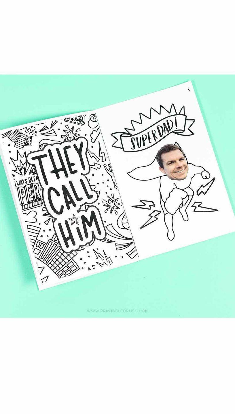 """<p>You can't get any easier than this do-it-yourself gift idea: Print, glue on dad's photo, then let the kids do the rest. </p><p><a href=""""https://printablecrush.com/superdad-fathers-day-gift-idea/"""" rel=""""nofollow noopener"""" target=""""_blank"""" data-ylk=""""slk:Get the printable."""" class=""""link rapid-noclick-resp"""">Get the printable.</a></p>"""