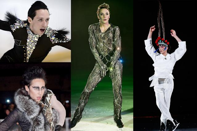 <p>No one had more extravagant costumes than Johnny Weir. The two-time Olympian, who retired in 2013, had the most elaborate costumes throughout his career and began designing costumes for other skaters post-retirement. </p>