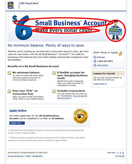 royal bank canada landing page