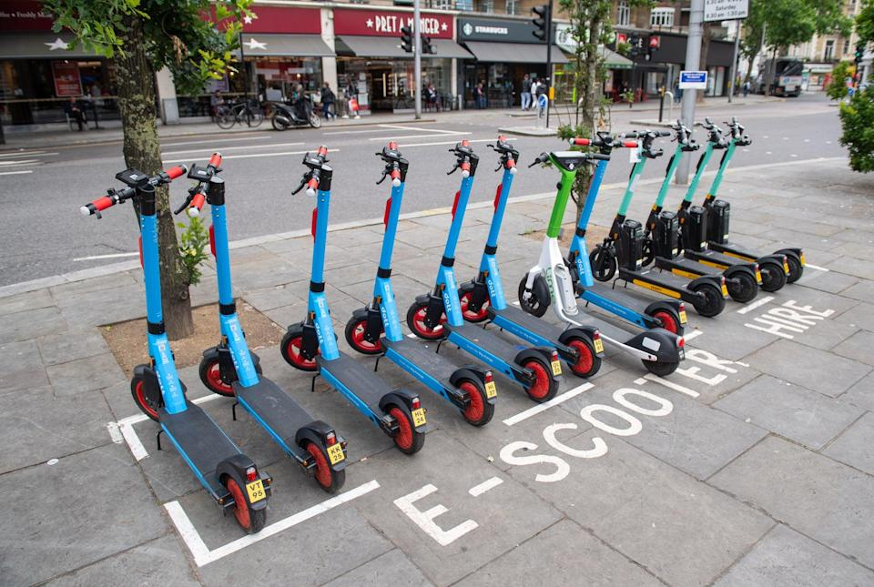 E-scooters are to be rolled out to three more boroughs in London (PA Wire)