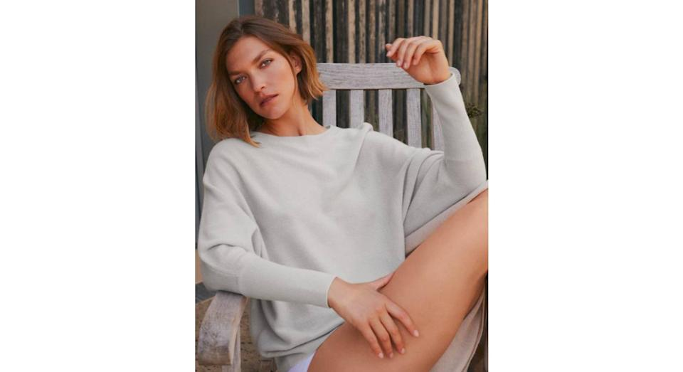 Cashmere Batwing Jumper (The White Company)