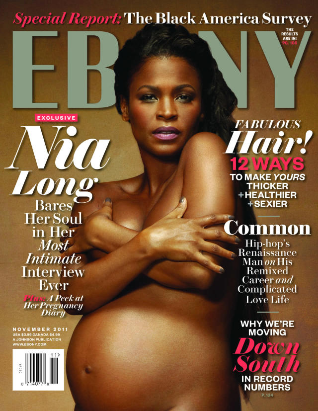 <p>Nia Long on the cover of<em> Ebony</em>, 2011 </p>