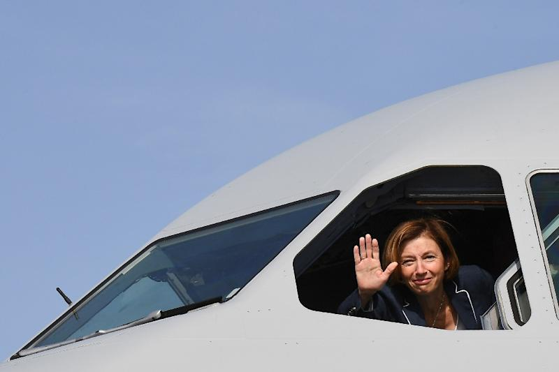 French Defence Minister Florence Parly pictured on October 19, 2018 in southern France