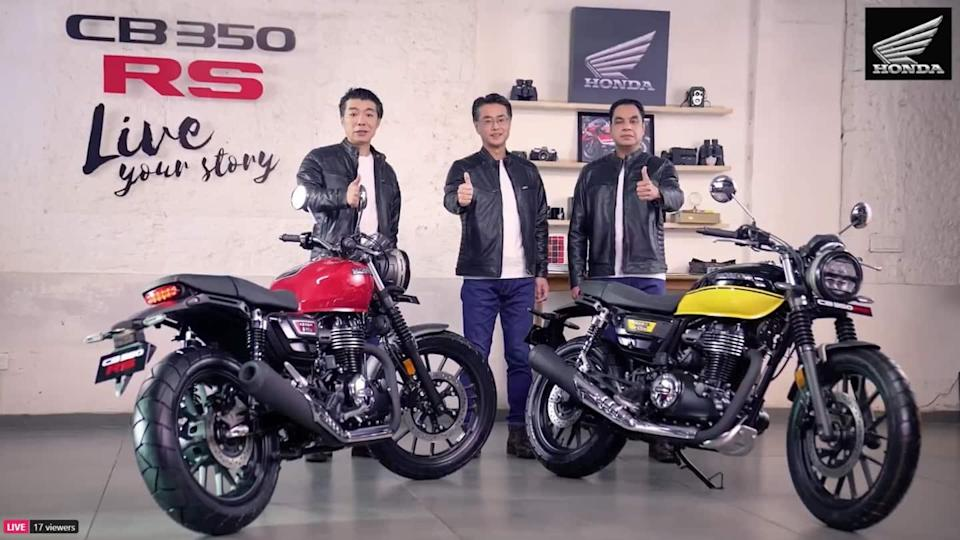 Honda CB350RS motorbike launched in India at Rs. 1.96 lakh