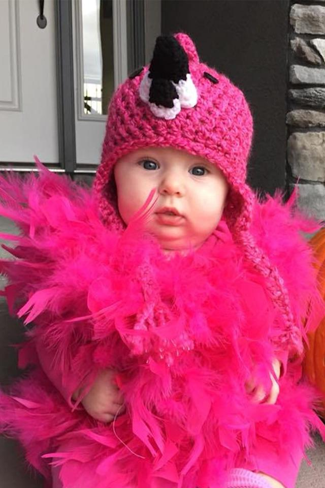 "<p>$55 and up<br></p><p><a rel=""nofollow"" href=""https://www.etsy.com/listing/557038103/flamingo-costume-hat-baby-flamingo-hat?"">SHOP NOW</a></p><p>This fun and feathery flamingo costume is perfect for any baby who lives in pink.<br></p>"