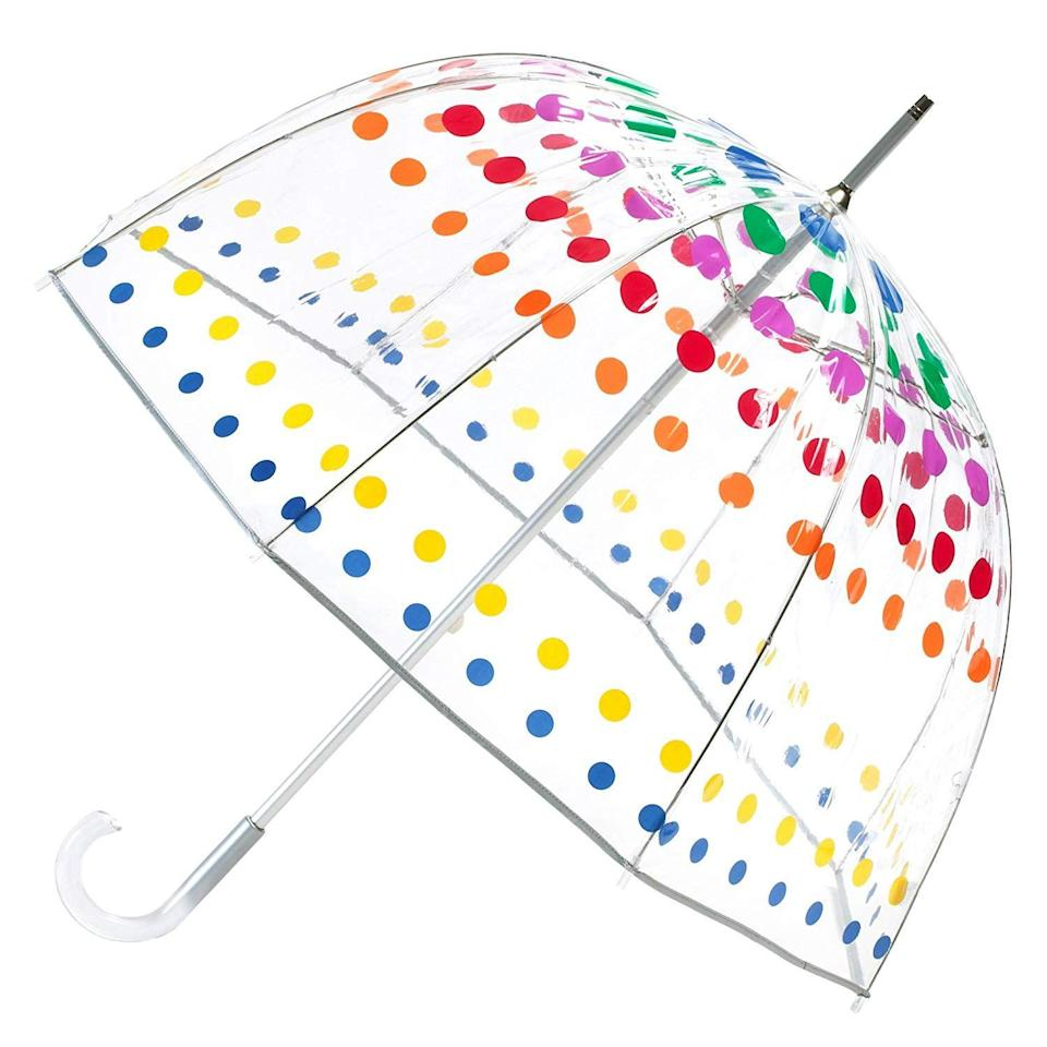 "<p>Give 'em a spectrum of happy color for cloudy days when they need a pick-me-up.</p><br><br><strong>Totes</strong> Signature Clear Bubble Umbrella, $22.61, available at <a href=""https://www.amazon.com/totes-Signature-Clear-Bubble-Umbrella/dp/B001JQROIA"" rel=""nofollow noopener"" target=""_blank"" data-ylk=""slk:Amazon"" class=""link rapid-noclick-resp"">Amazon</a>"