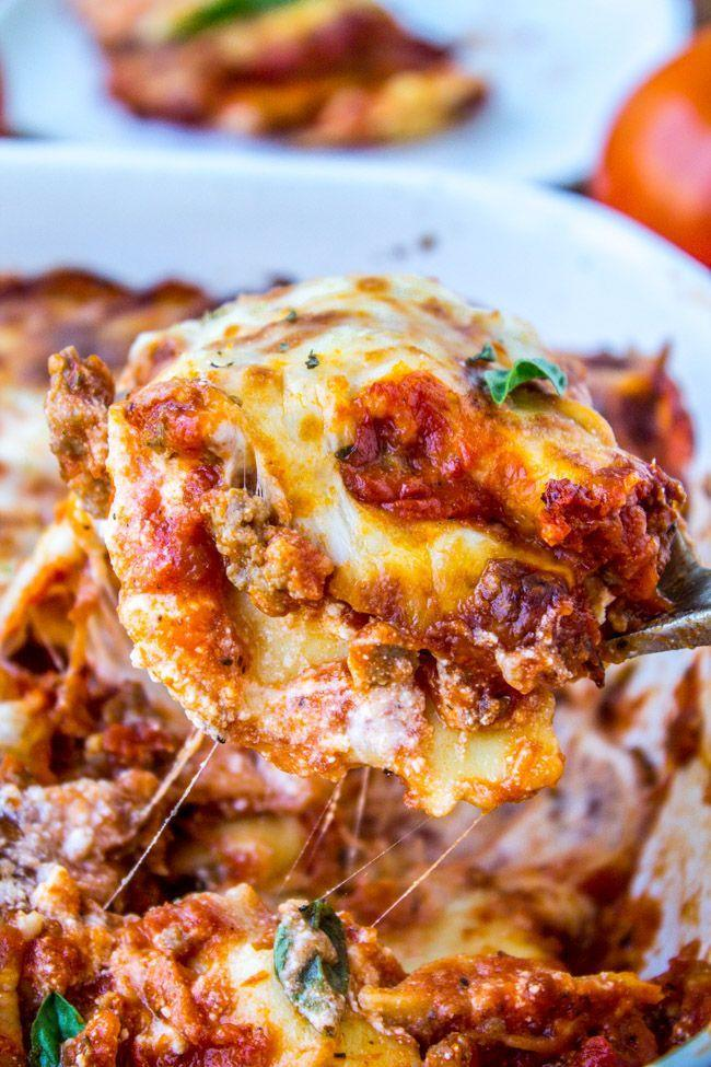 """<p>Two kinds of pasta are better than one. This picture is proof.</p><p>Get the recipe from <a href=""""http://thefoodcharlatan.com/2015/08/13/easy-ravioli-lasagna-recipe/"""" rel=""""nofollow noopener"""" target=""""_blank"""" data-ylk=""""slk:The Food Charlatan"""" class=""""link rapid-noclick-resp"""">The Food Charlatan</a>.</p>"""