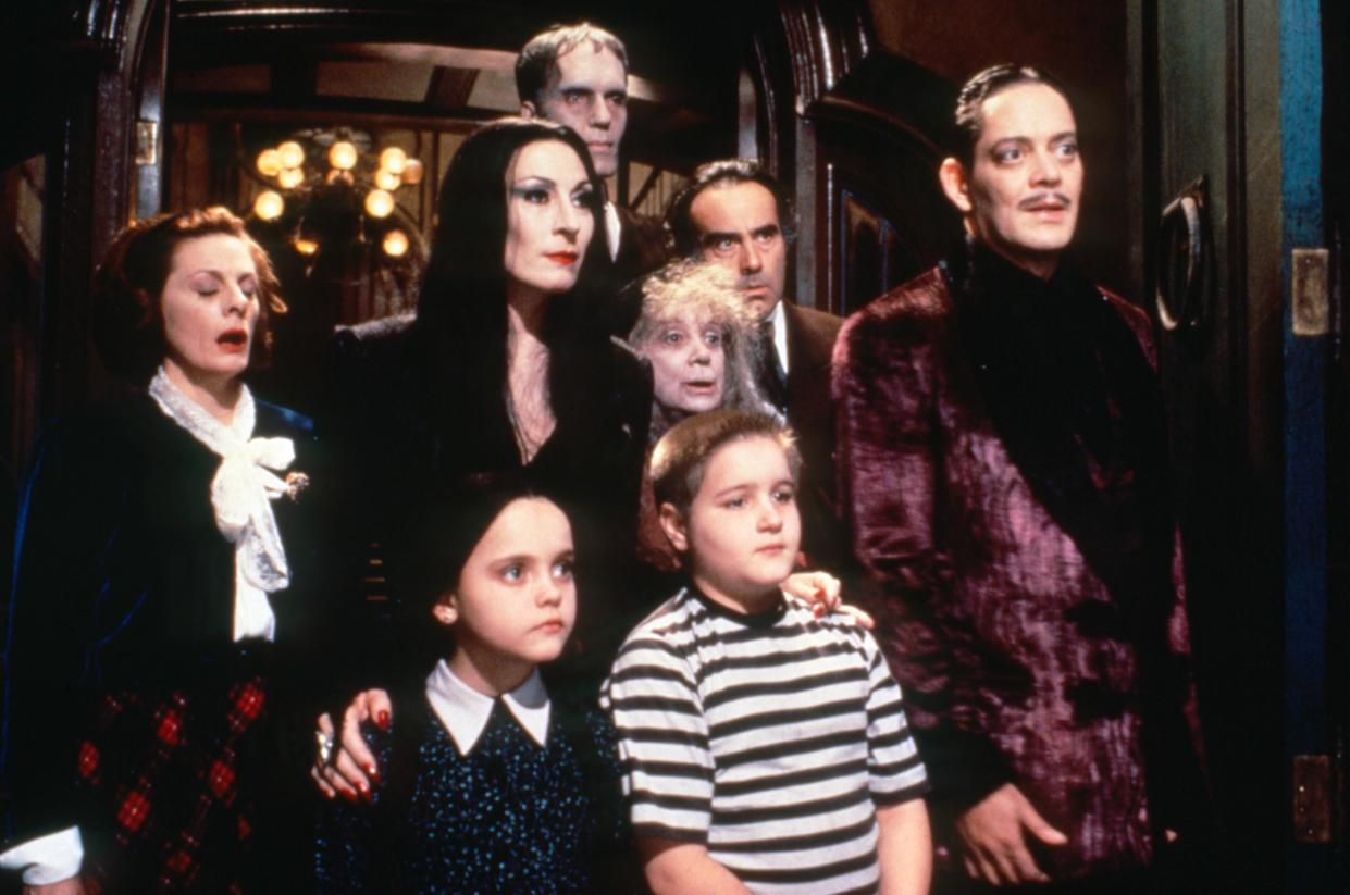 The cast of the 1991 blockbuster The Addams Family, based on the Charles Addams cartoons. (Photo: Melinda Sue Gordon / © Paramount Pictures / Courtesy Everett Collection)